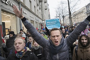 Protests Across Russia Call For Boycott Of March 18 Presi...