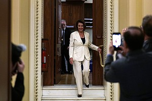 Pelosi Protests Stalled Immigration Talks With Marathon H...