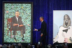 Paintings Of Barack And Michelle Obama Unveiled At Portra...