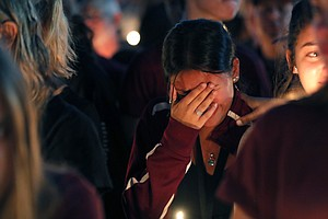 Community Mourns At Candlelight Vigil After Deadly School...