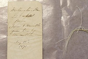 N.Y. College Says Forgotten Book Reveals Lock Of George Washington's Hair
