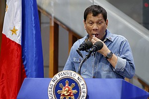 Philippines' Duterte Mocks Condom Use Amid Skyrocketing H...