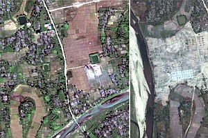 PHOTOS: Myanmar Apparently Razing Remains Of Rohingya Vil...