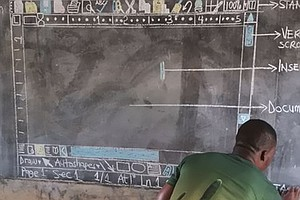 Computer Teacher With No Computers Chalks Up Clever Class...