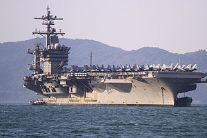 A U.S. Aircraft Carrier Is Docking In Vietnam For The Fir...