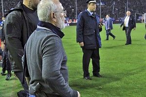 Greece Suspends Soccer League After Team Owner Invades Fi...