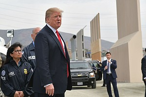 On Whirlwind California Trip, Trump Tours Border Wall Moc...