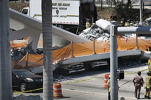 Pedestrian Bridge Collapses In Miami Area, Injuring Several