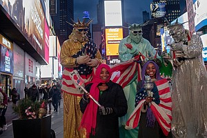 Abducted By Boko Haram, Now Posing With Lady Liberty In T...