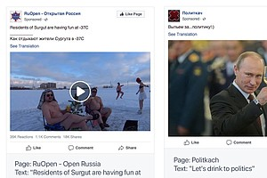 Kremlin Calls Facebook's Removal Of Russian Pages And Ads...