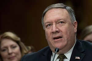 Pompeo Faces Tough Questioning In Secretary Of State Conf...