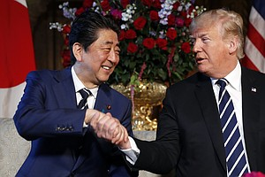 Trade And Nukes On The Agenda As Trump Meets Japan's Prim...