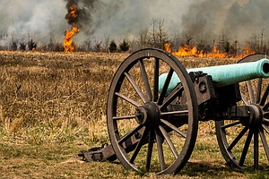Controlled Burn Held At Manassas Battlefield Park To Rest...