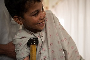 A 13-Year-Old In Afghanistan Won't Let His Injuries Get H...