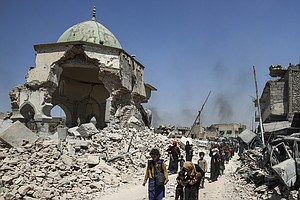 Mosul's Famed Mosque And 'Hunchback' Minaret, Destroyed B...