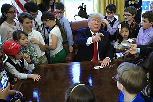 Kids Of White House Reporters Take Over, And Trump Seems ...