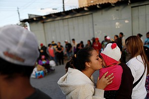 Central American Migrants Arrive At U.S. Border To An Unc...