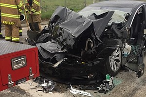 Federal Agency Investigates Tesla Crash; Driver Says Car ...