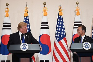 Trump And South Korean President Plot Strategy On North K...
