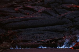 Kilauea's Latest Impact: Blue Flames And Beleaguered Resi...