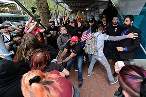 Police Declare A Riot After Far-Right And Antifa Groups C...