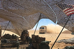 From Deep In The Iraqi Desert, A New U.S. Fire Base Targe...