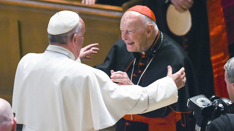 Cardinal Theodore McCarrick has resigned from the College of Cardinals over s...