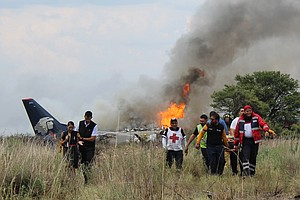 Jetliner In Mexico Crashes, Catches Fire, But All 103 Abo...
