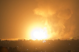 Israeli Airstrikes Hit Gaza After Hamas Launches Rocket A...