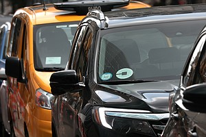 New York City Temporarily Halts More Uber And Lyft Cars O...