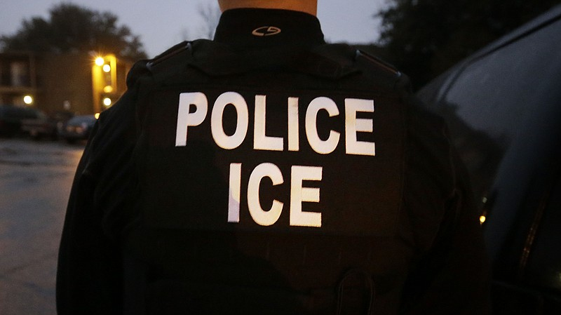 A U.S. Immigration and Customs Enforcement officer is pictured in this undate...