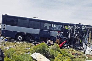 Greyhound Bus, Semi-Truck Crash Head-On In New Mexico; At...