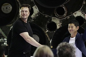 Japanese Billionaire Books First Moonshot Aboard SpaceX's 'Big Falcon Rocket'