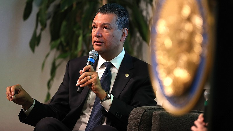 California Secretary of State Alex Padilla is launching the first statewide e...
