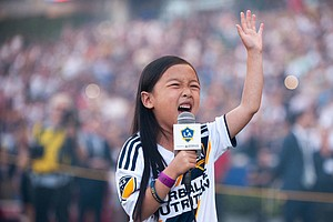 7-Year-Old Girl Belts Out National Anthem, Steals Show At MLS Match