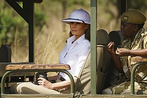 When Asked About Pith Helmet, FLOTUS Responds: 'Focus On What I Do, Not What ...