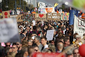 Protesters Throng Berlin In Massive Rally To Support 'Ope...