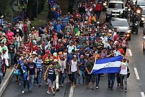 As Caravan Of Migrants Heads North, Trump Threatens To Cl...