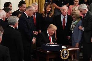 Signing Opioid Law, Trump Pledges To End 'Scourge' Of Dru...