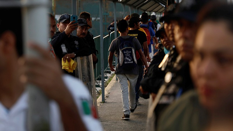 The Pentagon is sending troops to help control the U.S.-Mexico border. Here, ...