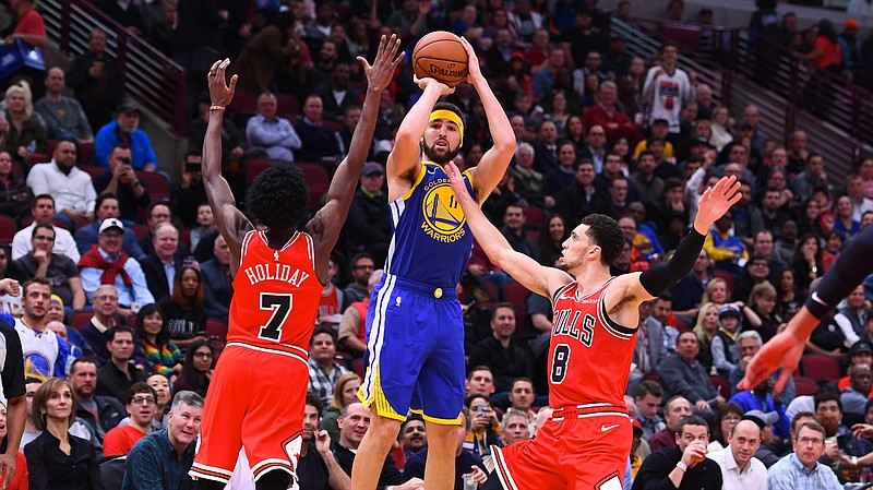 Klay Thompson Breaks NBA's 3-Point Record Held By Teammate Stephen Curry | KPBS