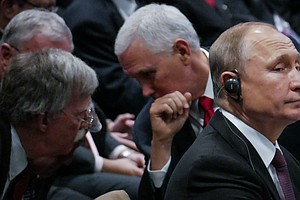 Pence, Putin And Bolton Have 'Informal Conversation' At A...