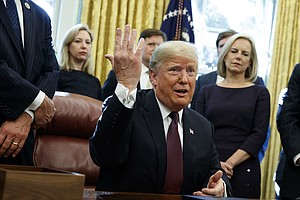 Trump Says He's Completed Written Answers For Mueller, Bu...