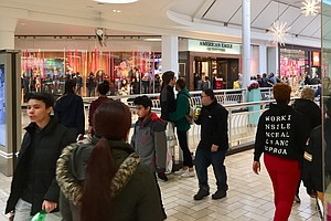 Black Friday: Online Retail Makes Inroads But Shoppers Still Pack The Malls