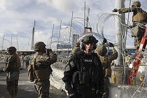 Photo for Pentagon Changes Rules To Allow Guard Troops Serving Along Border To Earn Ben...