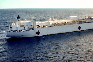 U.S. Navy Sends Hospital Ship To Colombia To Treat Venezu...