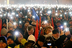 Protests Grip Hungary In Response To Overtime Measure Tha...