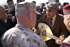A U.S. Commander Went For A Rare Stroll In Baghdad. Many ...