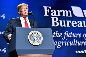 In Speech To Struggling Farmers, President Trump Promotes...