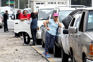Mexico's President Fights Gas Crisis, While Mexicans Endure Long Lines With J...